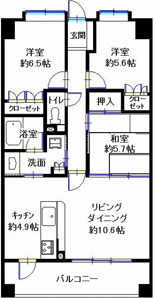 コアマンションリバーサイド橘公園通り203(田)