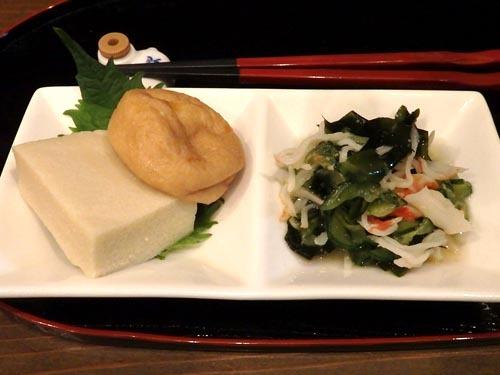 03カニときゅうりの酢の物高野豆腐とがんも
