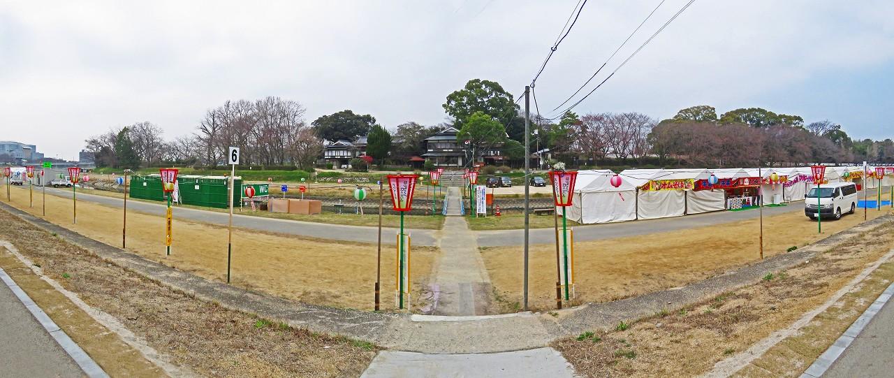 20170330 今日の岡山さくらカーニバル会場の様子ワイド風景 (3)