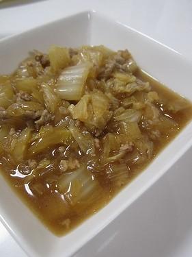 20170213 白菜とひき肉の生姜煮