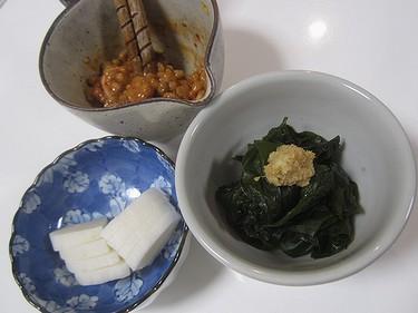 20170327 わかめ刺身&キムチ納豆