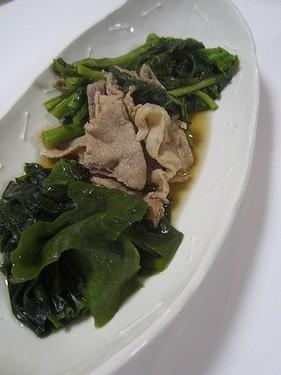 20170330 豚肉菜の花わかめのさっと煮