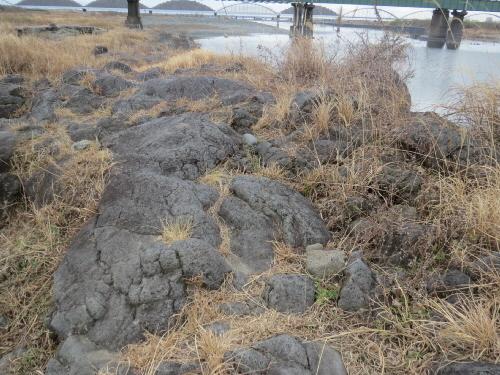 水神溶岩流中下流
