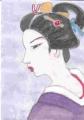 3美人画勝田哲、雨