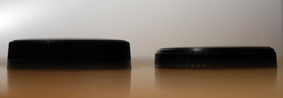 リアキャップ厚み比較