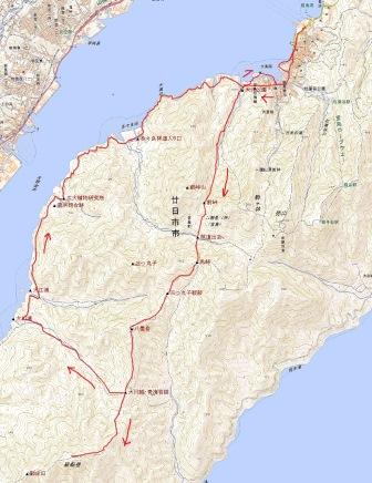岩船岳地図  2