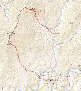 三倉岳地図  [1]