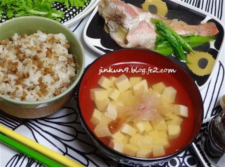なんとなく04-04 昨日の晩御飯 冷蔵庫にあるもの 赤魚 そぼろご飯 3