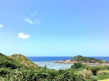 久々に海の青さに空の青!