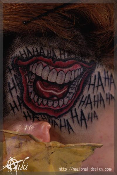 20170405 名古屋 新栄 栄 大須 tattoo タトゥー スタジオ NazionalDesign ピアス ピアッシング ボディピアス 痛くない 麻酔 安心 ジョーカー スースク 口 頭 頭皮 リアル Joker