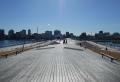 大さん橋より市街地を見る
