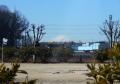 大井体育館近くから見る富士