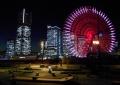 左からランドマークタワー、横浜ロイヤルパークホテル、コスモクロック