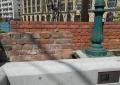 居留地時代のレンガ塀遺構
