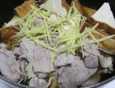 厚揚げと豚こまのしょうが煮 調理③