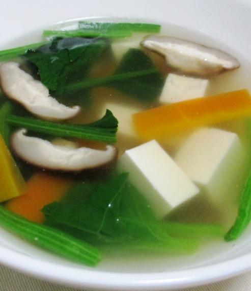 豆腐とほうれん草のスープ B