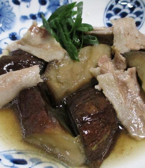 ナスと豚バラ肉の煮物 B