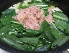小松菜豆腐 調理②