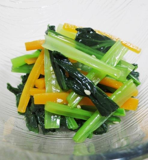 小松菜とにんじんの和え物 大