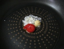 豆腐のチリソース 調理①