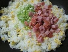 ハム炒飯 調理⑤
