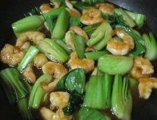 海老と青梗菜のオイスターソース炒め 調理⑥