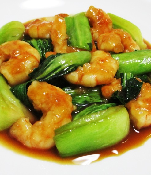 海老と青梗菜のオイスターソース炒め B