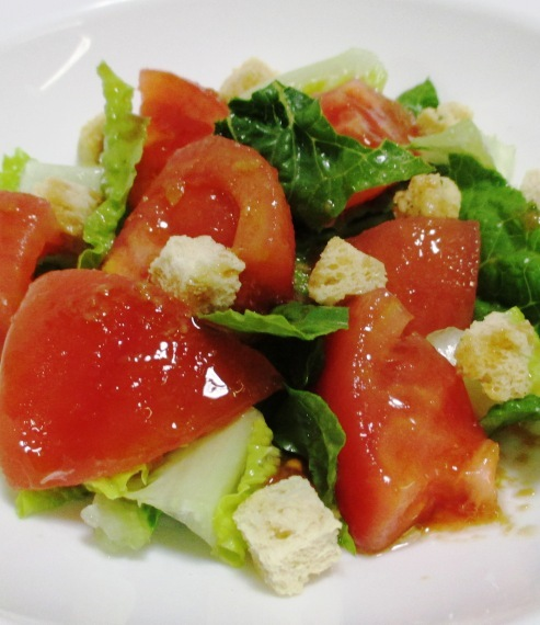 トマトとクルトンサラダ B