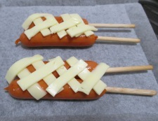 フランクフルトのチーズ焼き 調理②