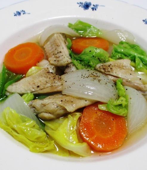 手羽中と春野菜のスープ煮 大