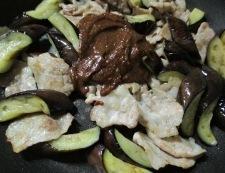 ナスと豚こまの胡麻味噌炒め 調理⑥