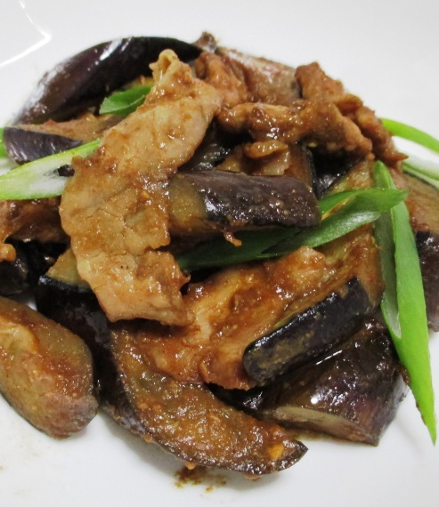 ナスと豚こまの胡麻味噌炒め 拡大