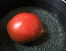 トマトみょうが 調理③