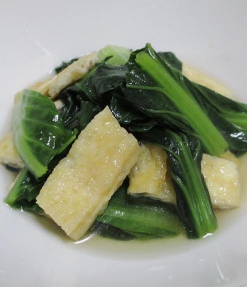 小松菜とお揚げ 大