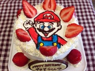 ケーキはマリオ