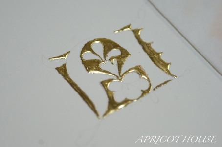 170404写本装飾金箔貼り