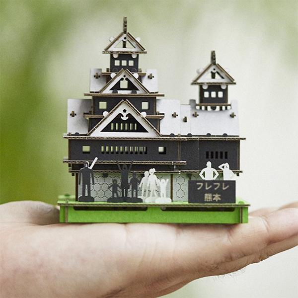 熊本城組み立て募金