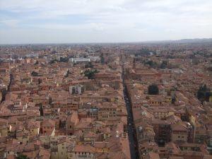 塔の上から見たボローニャ