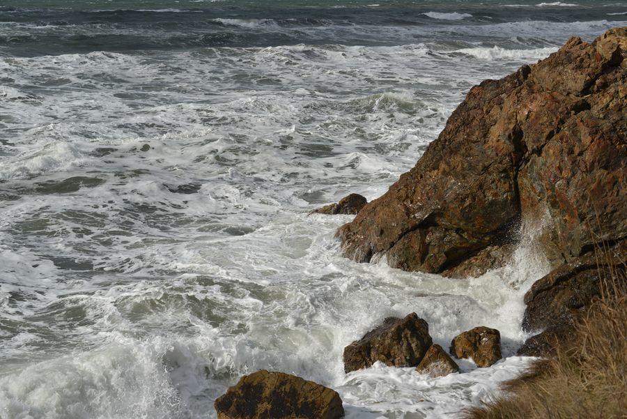 冬の日本海 泡立つ海-4