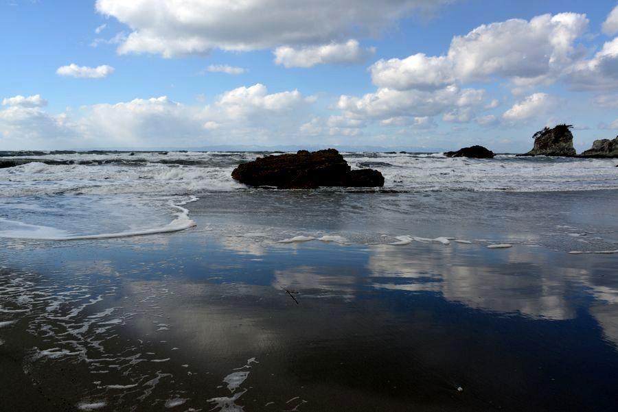 冬の日本海 砂浜-3