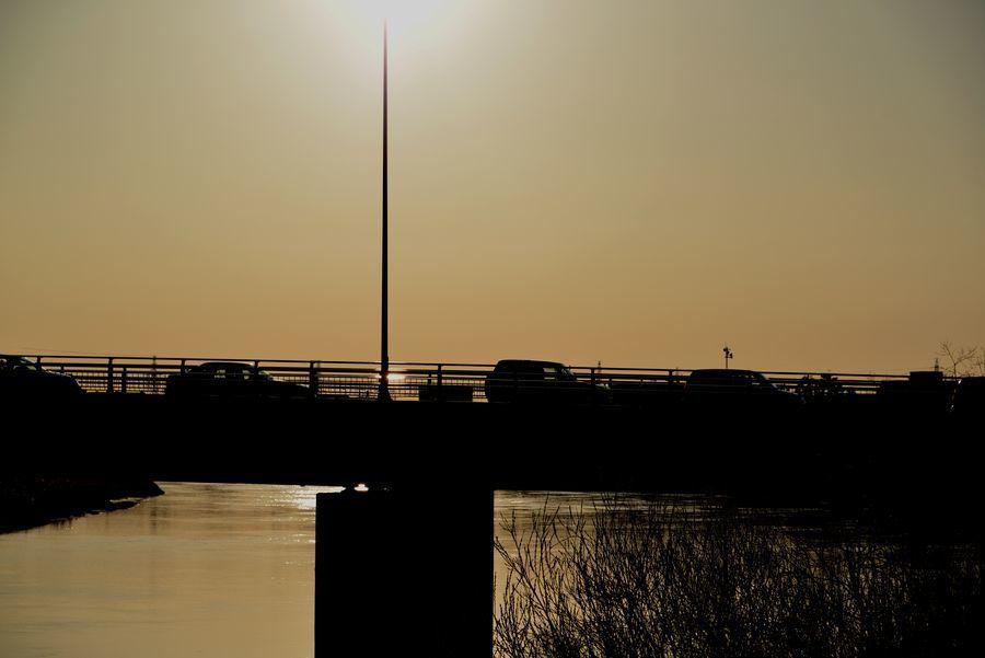 二月最後の日 川辺-2