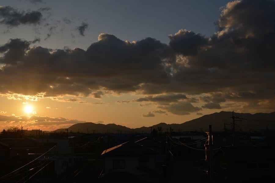 久々の夕陽-1