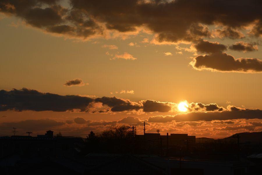 久々の夕陽-2
