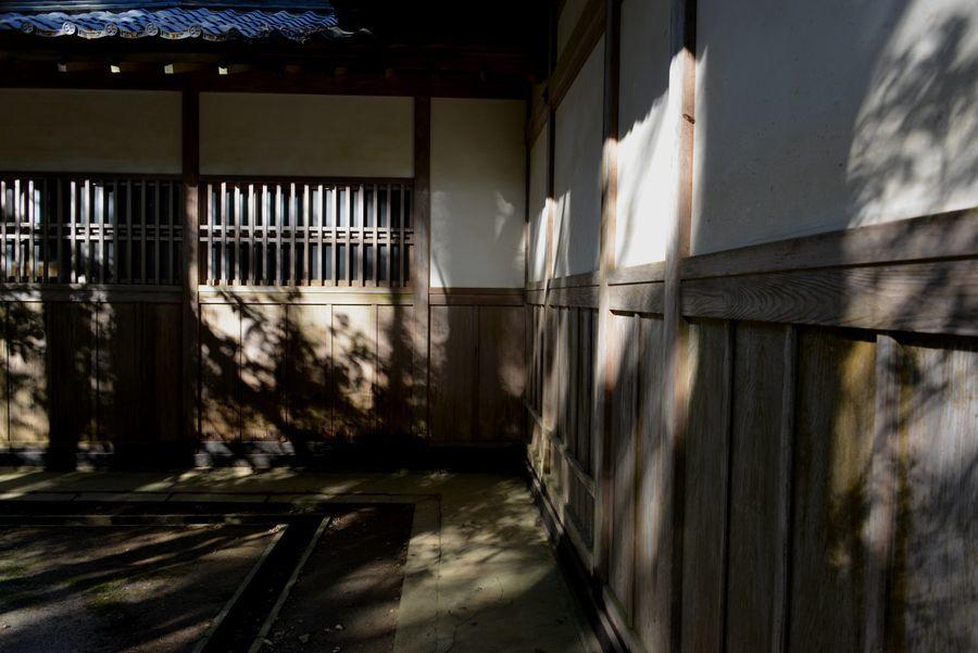 彼岸の神社 影-2