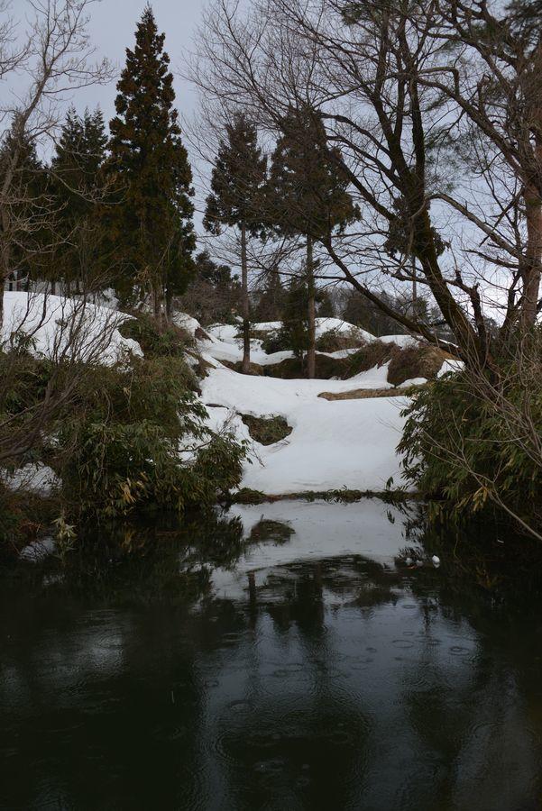 棚田の残雪-5