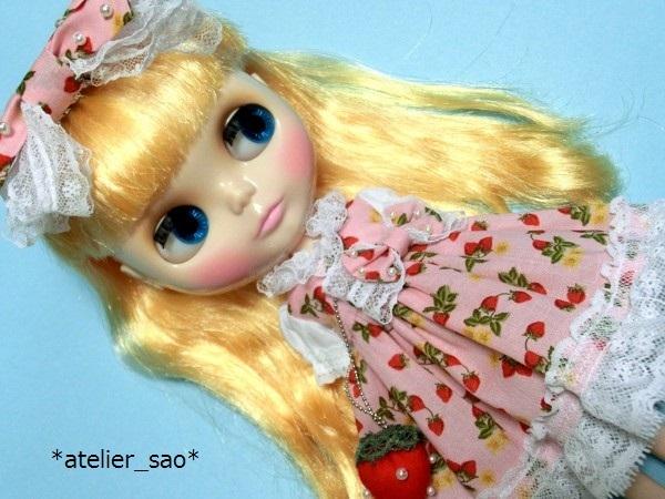 イチゴ柄のドレス◇ピンク◆ネオブライス1