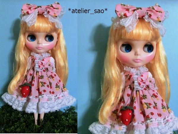 イチゴ柄のドレス◇ピンク◆ネオブライス2