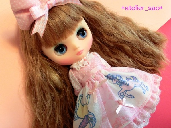 *atelier_sao*◆ゆめかわ☆ユニコーン☆ピンク◆ミディブライスアウトフィット1
