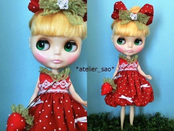 イチゴのバルーンワンピ◇赤◆ネオブライス1