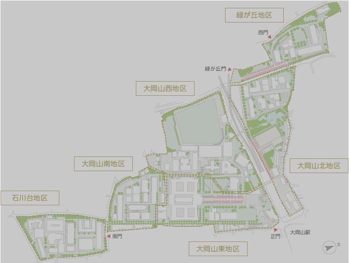 大岡山キャンパスマップ